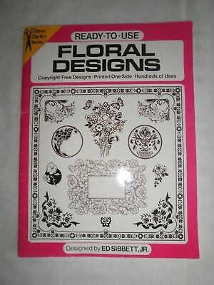 Dover Clip-Art Series*Ready-To-Use ~ Floral Designs Over 300 Motifs