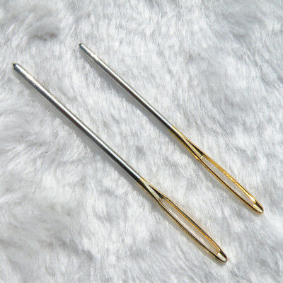 2pcs Knitters Wool Needles Large Eye For Threading Darning Sewing Embroidery