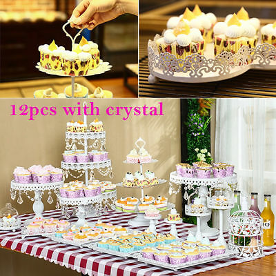 12Pcs Cake Dessert Candy Stand Holder Birthday Wedding Display Event Party Decor
