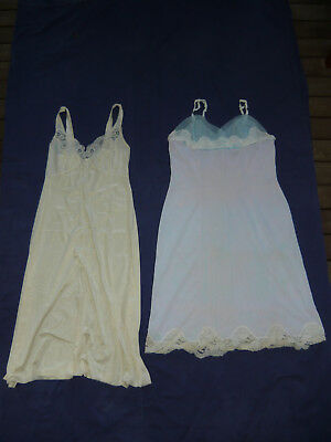 KAYSER & CHIC SALON Nightie Size 12 Classic Vintage 60s Satin Lace Lounge Wear
