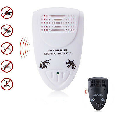Electronic Uk Plug-In Ultrasonic Rodent Pest Fly Repeller Mice Rat Repellent