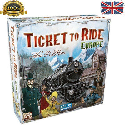 TICKET TO RIDE EUROPE Family Board Game 2-5 Players Party Table Play Gift UK