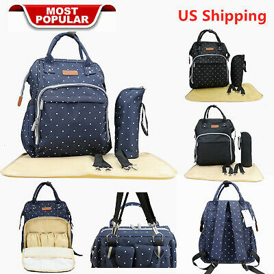 Mummy Baby Diaper Nappy Bag Backpack Organizer Pouch Changing Pad Stroller Hook