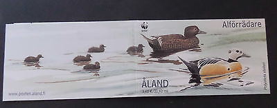 Aland 2001 endangered species birds duck SG184/7 booklet MNH UM unmounted mint