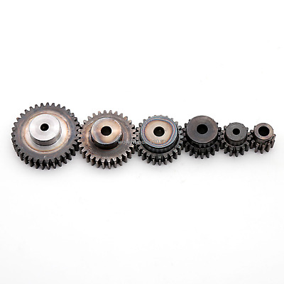 1.5Mod 12T-80T Spur Gear With Step 45# Steel Motor Pinion Gear With Set Screws