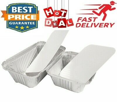 Aluminium Food Foil Containers With Lids Perfect For Home Takeaway Use