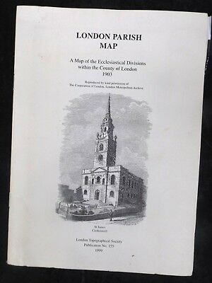LONDON PARISH MAP 1903 ecclesiastical divisions of the county of LONDON