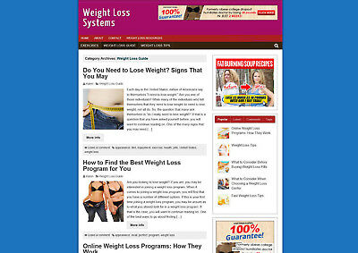 Weight Loss Systems Store - Affiliate Website & Blog With Domain - Basic Theme