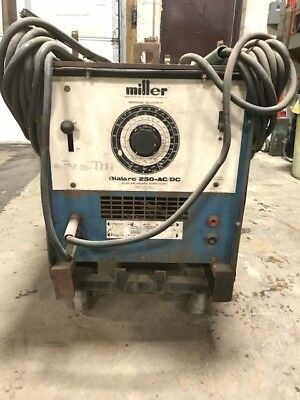 Miller Dialarc Welder - Includes Cables and Roller Cart - We Will Ship!