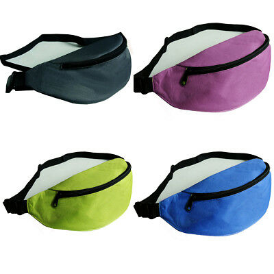 Large Canvas Holiday Waist Money Belts Travel Bum Bags Wallet Pouch Mens Ladies