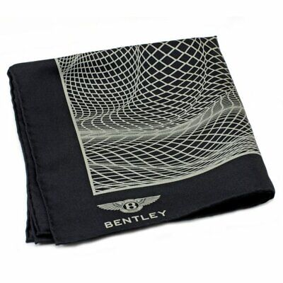 Bentley Gieves & Hawkes Pocket Square Black & Silver