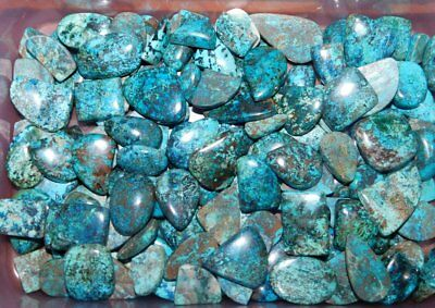 1000Cts. Natural Awesome Azurite Cabochon Gemstone Wholesale Lot 19