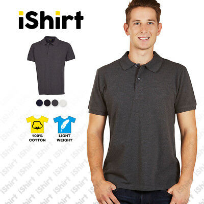 Mens Polo 100% Cotton I Plain Blank Light Weight I Modern Fit I Xs-5Xl