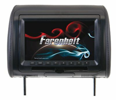 """Farenheit Universal Headrest Preloaded with DVD Player 9"""" LCD With USB/Aux"""