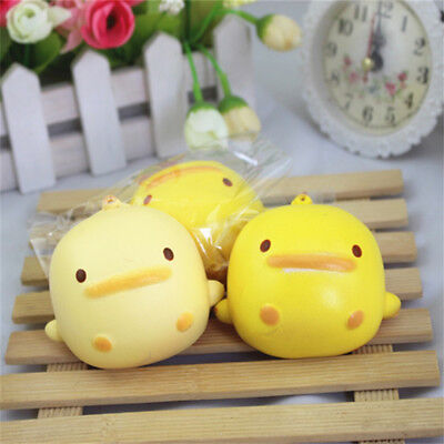 Squishy Cute Yellow Duck Bread Phone Straps Slow Rising Bun Charms Gifts Toys
