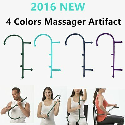 4 Colors Massager Theracane Body Self Massage Muscle Deep Pressure Trigger RJ