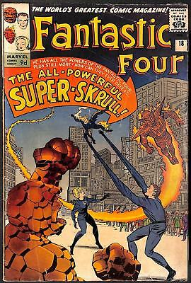 Fantastic Four #18 1st App of Super-Skrull (Kl'rt) GD+