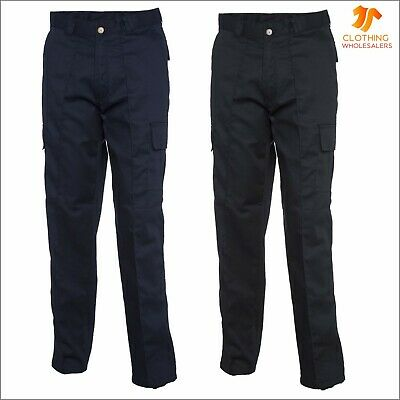 New Mens Womens Cargo Trousers Combat Work Bottoms Industry Safety Workwear LOT