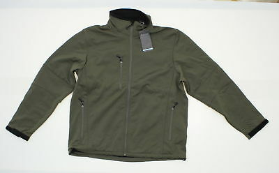 NWT Rivers End Mens Windproof Water Resistant Softshell Jacket Pewter Large 0573