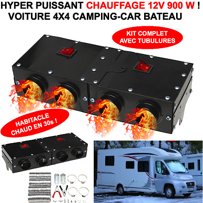 PROMO! ULTRA PUISSANT CHAUFFAGE 12V 900W ! CHAUFFE EN 30s ! 4X4 CAMPING-CAR VTC