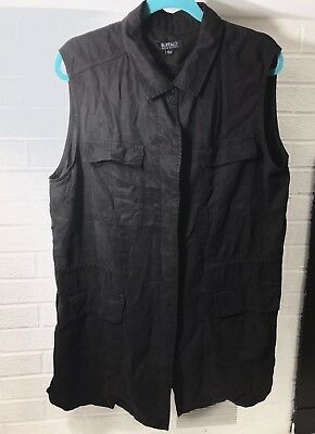 Buffalo David Bitton Ladies Black Lightweight Pocket Vest Size XL