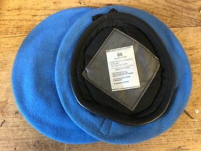 UN UNITED NATIONS LIGHT BLUE WOOL BERET - Sizes , British Military Issue  , NEW