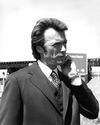 Dirty Harry Clint Eastwood B&w 8X10 Photograph