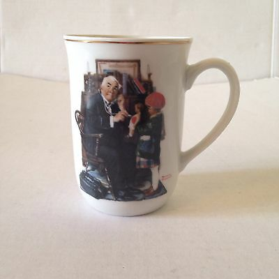 """Norman Rockwell The Saturday Evening Post March 1929 """"Dr & Doll"""" Collectible Mug"""