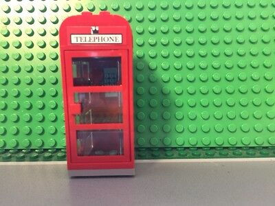 Custom Lego red phone booth English style - Modular, city, train