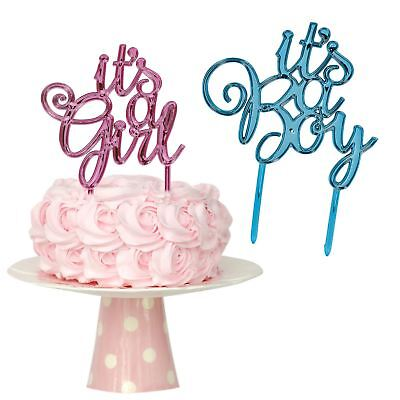 Pink or Blue It's a Girl or Boy Cake Topper Baby Shower Gender Reveal Party
