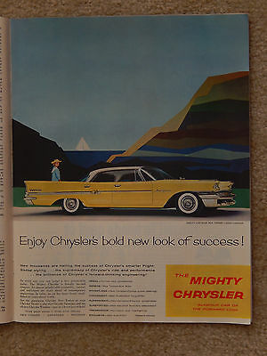 1958 Mighty Chrysler Glamour Car - Saturday Evening Post Jan 25, 1958
