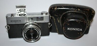 Konica EE-Matic Deluxe F - 35mm Rangefinder Camera, Hexanon 42mm f/2.8 Lens