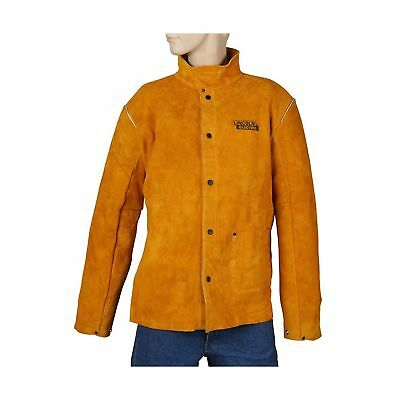 Lincoln Electric Brown XX-Large Flame-Resistant Heavy Duty Leather Welding Ja...