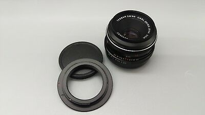 *Carl Zeiss Jena DDR Tessar 2,8 f=50 Lens M42 for CANON EOS EF Mount Fit WORKING