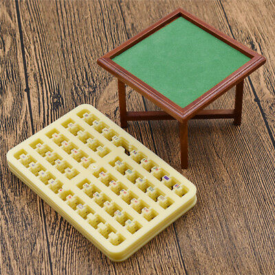 Vintage Mini Tiny Dollhouse MahJong Desk Furniture Chinese Style Room Items New