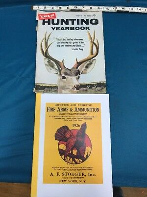 Lot Of Paper Goods Hunting Year Book 1959/ A Reproduction Of 1926 Stoeger Cat.