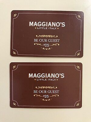 $50 in Maggiano's Little Italy Be Our Guest gift cards - Good til Feb 28, 2018