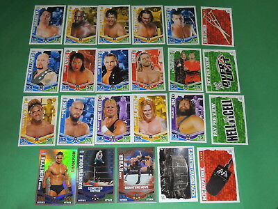 Lot 23 cartes SLAM ATTAX MAYHEM - WWE trading card Topps #7