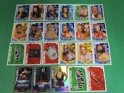 Lot 23 cartes SLAM ATTAX MAYHEM - WWE trading card Topps #8