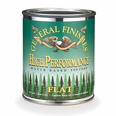 General Finishes High Performance Water Based Topcoat, 1 Pint, Flat