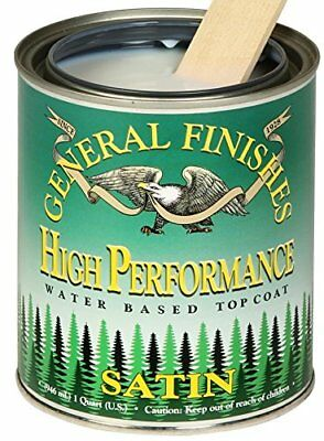 General Finishes High Performance Water Based Topcoat, 1 Pint, Satin
