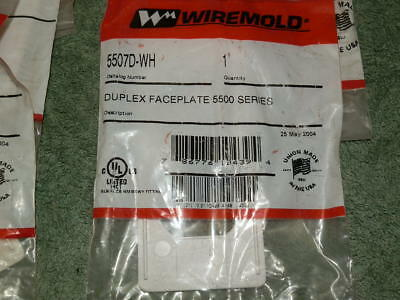 NINE Wiremold 5507D-WH Duplex Receptacle Faceplates