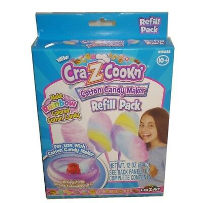 Cra-Z-Cookn' Cotton Candy Maker Refill Pack New In box Free Shipping