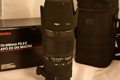 Sigma EX 70-200mm f/2.8 APO HSM EX DG Lens For Nikon (fits FX and DX)