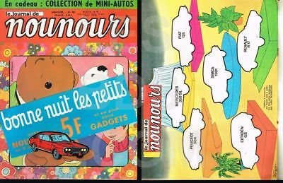 JOURNAL DE NOUNOURS N° 82   02/1972  RENAULT 17  en MOUSSE COLLECTOR