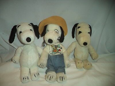 "Vintage Lot (3) Snoopy's 1968 Pat.# 219-Ca16133 (11"" Tall)"