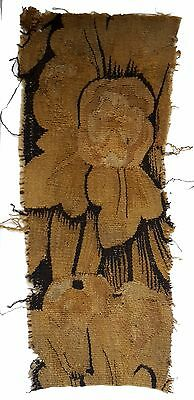 An Antique Tapestry Fragment with Large Flower
