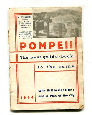 Vintage Tour Book POMPEII BEST GUIDE BOOK 1944 WW2 probably soldier's