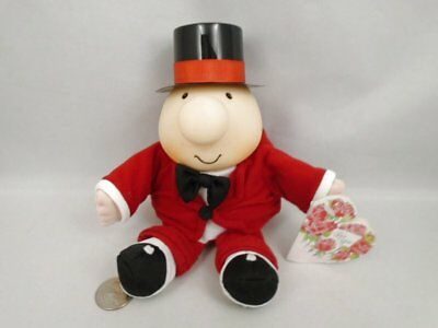 """1995 Orig Tags Ziggy Plush Red Tuxedo Blk Top Hat Valentines Day Tom Wilson 8"""""""