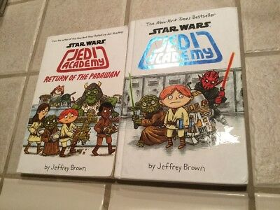 Lot of 2 Books ~ Star Wars Jedi Academy by Jeffrey Brown Chapter Comic Books